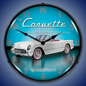 1953 Corvette LED Lighted Wall Clock