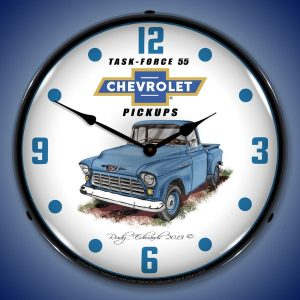 1955 Chevrolet Pick-up Truck LED Lighted Wall Clock