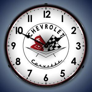 1956-1957 Corvette LED Lighted Wall Clock