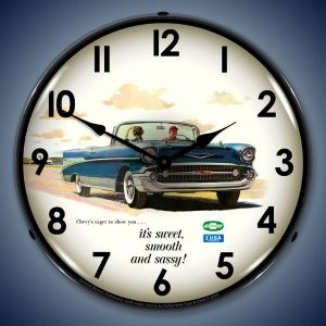 1957 Bel Air Convertible LED Lighted Wall Clock