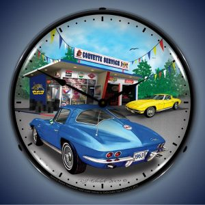 1963 Corvette LED Lighted Wall Clock