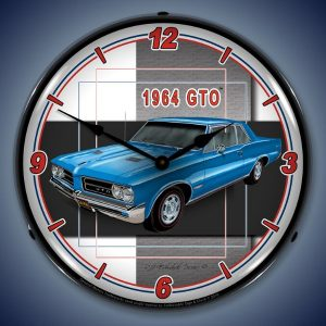 1964 Pontiac GTO LED Lighted Wall Clock