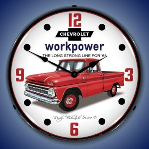 1965 Chevrolet Truck LED Lighted Wall Clock
