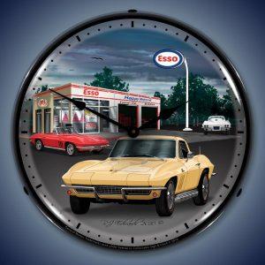 1965 Corvette LED Lighted Wall Clock