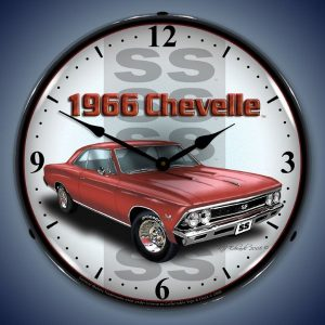 1966 SS Chevelle LED Lighted Wall Clock