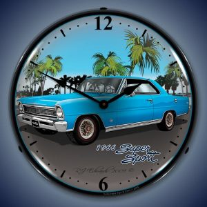 1966 Nova Super Sport LED Lighted Wall Clock