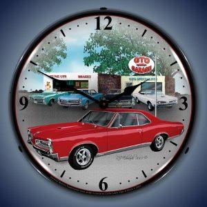 1967 Pontiac GTO LED Lighted Wall Clock