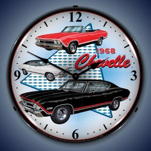 1968 Chevelle LED Lighted Wall Clock