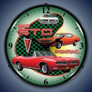 1968 Pontiac GTO LED Lighted Wall Clock