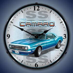 1968 SS Camaro LED Lighted Wall Clock