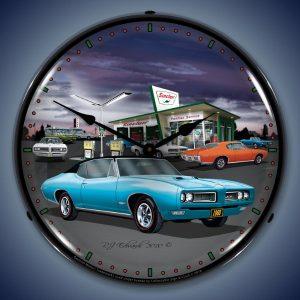 1968 Pontiac Sinclair GTO LED Lighted Wall Clock