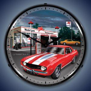 1969 Camaro LED Lighted Wall Clock