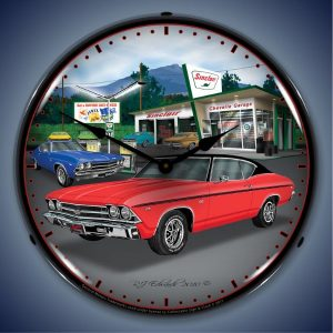1969 Chevelle LED Lighted Wall Clock
