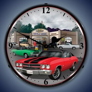 1970 Chevelle LED Lighted Wall Clock