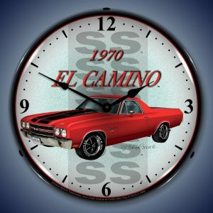 1970 El Camino SS LED Lighted Wall Clock