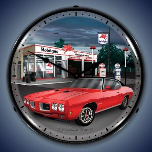 1970 Pontiac GTO LED Lighted Wall Clock