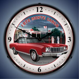 1972 Monte Carlo LED Lighted Wall Clock