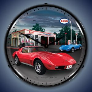 1974 Corvette LED Lighted Wall Clock