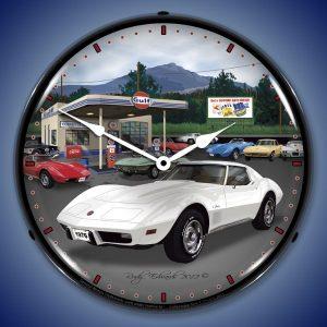 1976 Corvette LED Lighted Wall Clock