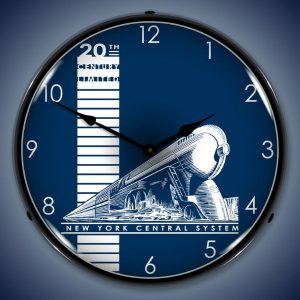 20th Century Limited LED Lighted Wall Clock
