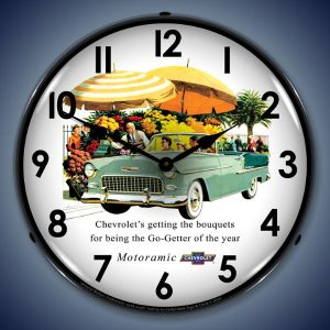 1955 Bel Air Convertible LED Lighted Wall Clock