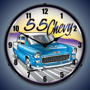 1955 Chevy LED Lighted Wall Clock