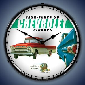 1959 Chevy Pick-Up LED Lighted Wall Clock