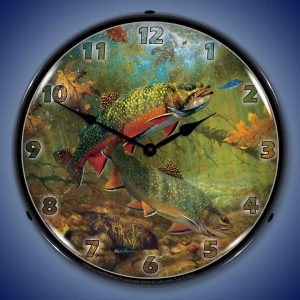 American Beauties Trout By Mark Susinno LED Lighted Wall Clock