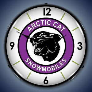 Arctic Cat Snowmobiles LED Lighted Wall Clock
