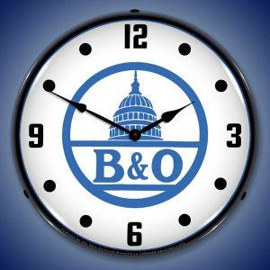 B&O Railroad 2 LED Lighted Wall Clock