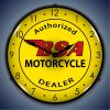 BSA Motorcycles LED Lighted Wall Clock