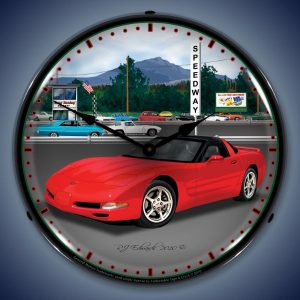 C5 Corvette Raceway LED Lighted Wall Clock
