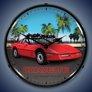 C4 Corvette LED Lighted Wall Clock
