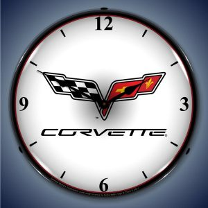 C6 Corvette LED Lighted Wall Clock