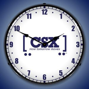 CSX Railroad How Tomorrow Moves LED Lighted Wall Clock