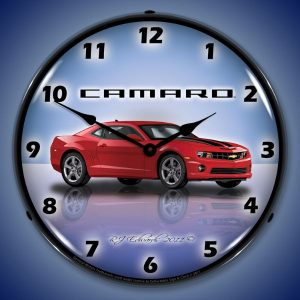 Camaro G5 Red Jewel LED Lighted Wall Clock