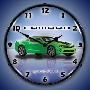 Camaro G5 Synergy Green LED Lighted Wall Clock