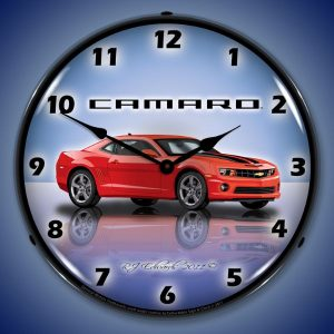 Camaro G5 Victory Red LED Lighted Wall Clock