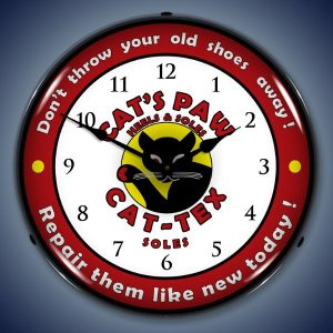 Cats Paw's Heels And Soles LED Lighted Wall Clock
