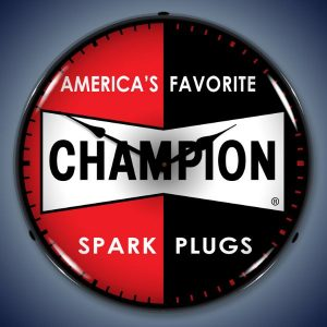 Champion Spark Plugs LED Lighted Wall Clock