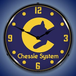 Chessie Railroad System LED Lighted Wall Clock