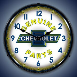 Chevrolet Genuine Parts LED Lighted Wall Clock