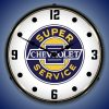 Chevrolet Super Service LED Lighted Wall Clock