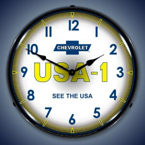 Chevrolet USA 1 LED Lighted Wall Clock