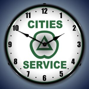 Cities Service LED Lighted Wall Clock