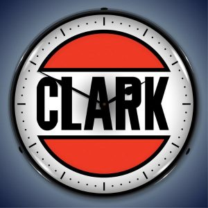 Clark Gas LED Lighted Wall Clock