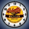 Columbia Built Bicycles LED Lighted Wall Clock