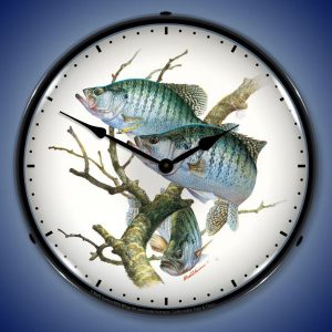 Crappies By Mark Susinno LED Lighted Wall Clock