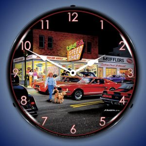 Bruce Kaiser Crazy Eds LED Lighted Wall Clock