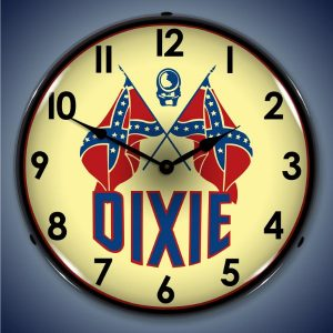 Dixie Gas LED Lighted Wall Clock